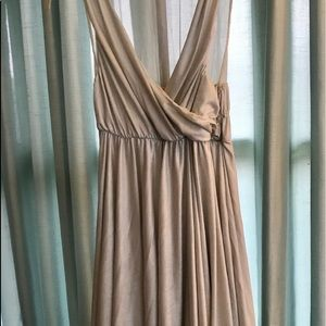 NWT Alice+Olivia Silver Goddess Empire Waist Dress